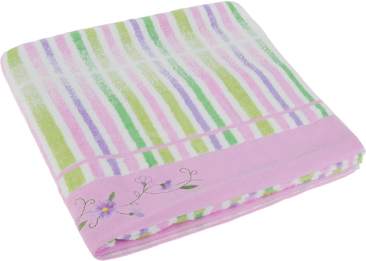 Полотенце Soavita Premium. Lily, цвет: розовый, белый, зеленый, 70 х 140 см62927Полотенце Soavita Premium. Lily выполнено из 100% хлопка. Изделие отлично впитывает влагу, быстро сохнет, сохраняет яркость цвета и не теряет форму даже после многократных стирок. Полотенце очень практично и неприхотливо в уходе. Оно создаст прекрасное настроение и украсит интерьер в ванной комнате.