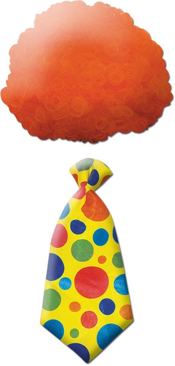 Partymania Клоунский парик+галстук T1220T1220Изделие развлекательного характера. Клоунский набор подарит радость перевоплощения, создав веселый образ, и наполнит всех положительными эмоциями. Материал: полиэстер