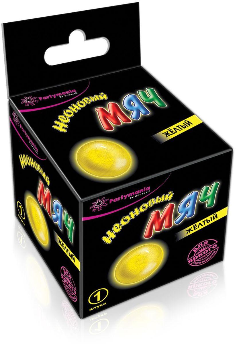 Partymania Изделие для праздников и активных игр Неоновый мяч T0119 цвет желтый