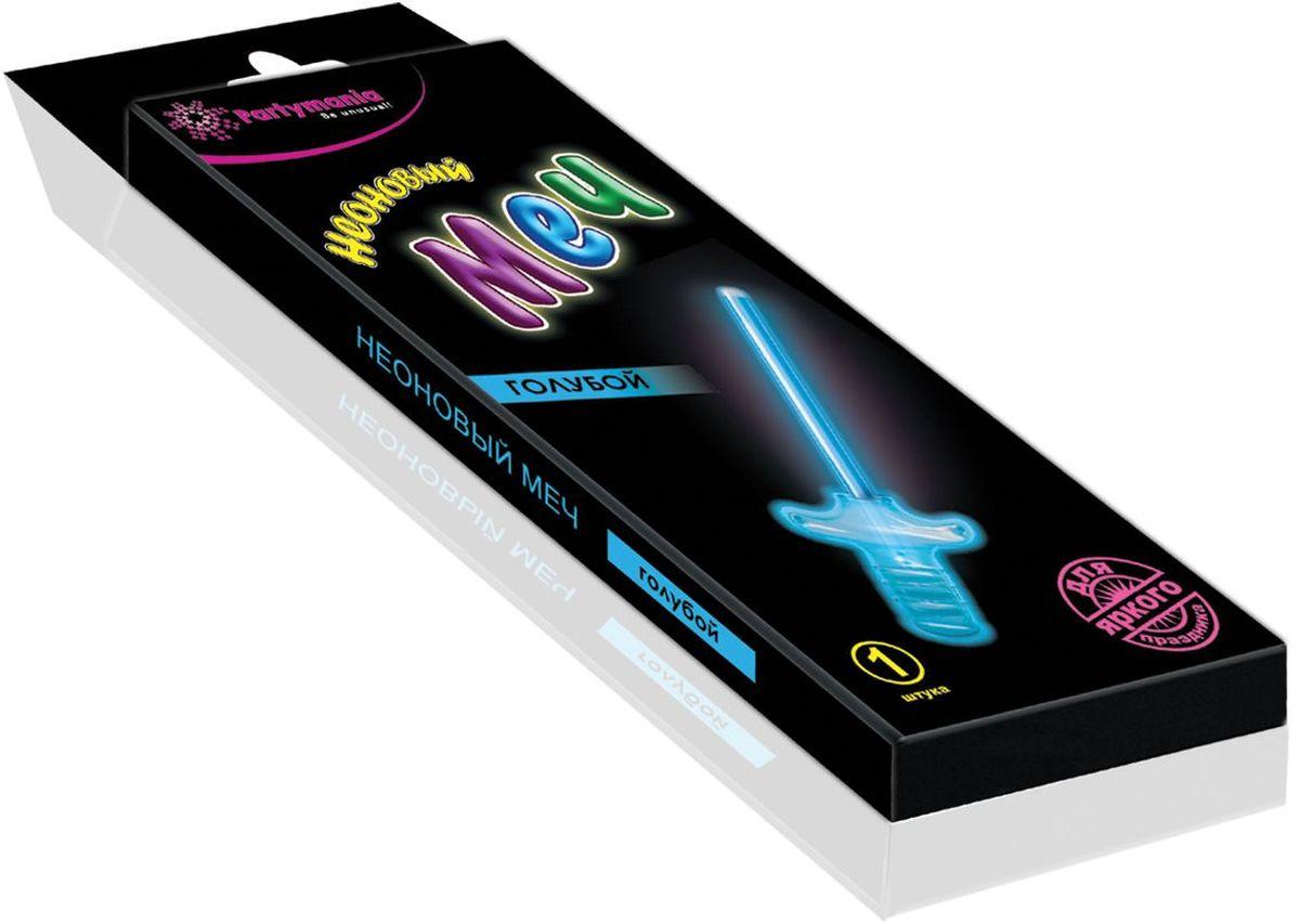 Partymania Изделие для праздников и карнавалов Неоновый меч T0117 цвет голубойT0117_голубойНеоновый меч для мальчиков. Размер 27 см. Комплектация: неоновая палочка-меч, пластмассовая рукоятка меча. Цвет свечения: синий, зеленый, фиолетовый.