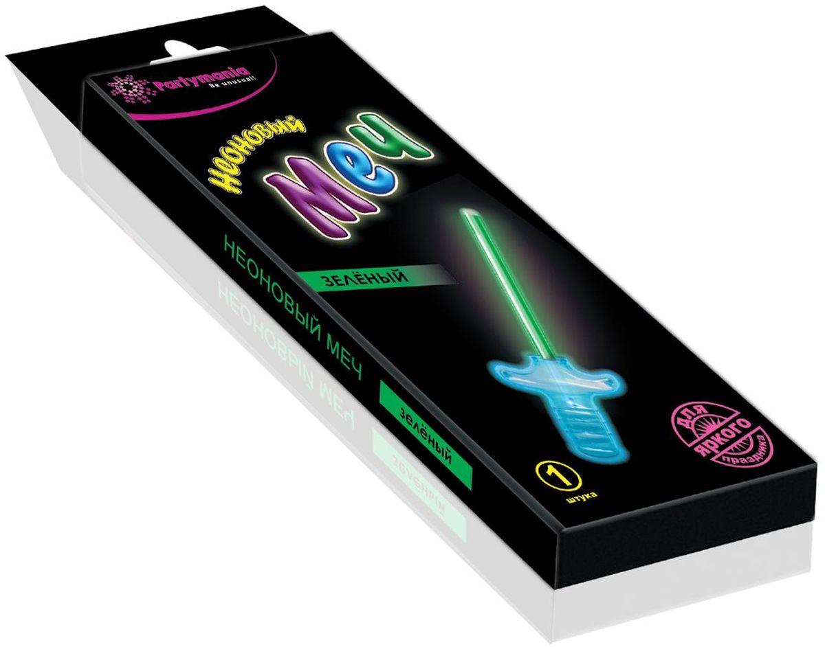 Partymania Изделие для праздников и карнавалов Неоновый меч T0117 цвет зеленыйT0117_зеленыйНеоновый меч для мальчиков. Размер 27 см. Комплектация: неоновая палочка-меч, пластмассовая рукоятка меча. Цвет свечения: синий, зеленый, фиолетовый.