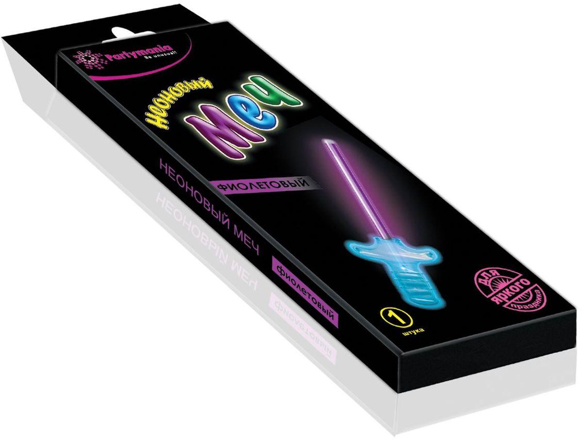 Partymania Изделие для праздников и карнавалов Неоновый меч T0117 цвет фиолетовыйT0117_фиолетовыйНеоновый меч для мальчиков. Размер 27 см. Комплектация: неоновая палочка-меч, пластмассовая рукоятка меча. Цвет свечения: синий, зеленый, фиолетовый.