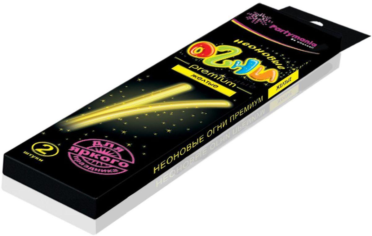 Partymania Изделие для праздников и карнавалов Неоновые огни Премиум T0110 цвет желтыеT0110_желтыеЗолотые блестки, вкрапленные в пластик, большой диаметр палочек, а также фигурные цветные коннекторы делают это изделие особо нарядным, поэтому мы назвали его Premium. Комплектация: 1. Неоновые палочки с блестками 7х225 мм. (одного цвета) - 2 шт. 2. Фигурный коннектор для соединения - 2 шт. Размер упаковки - 275х60х135 мм. Цвета палочек: желтые, зеленые, красные, фиолетовые.