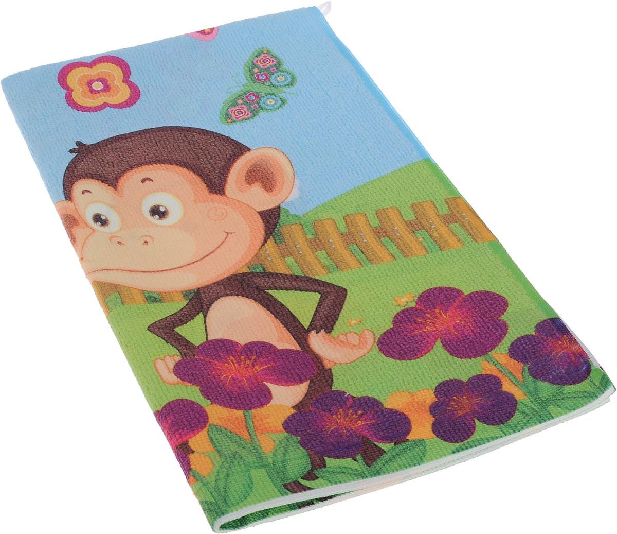 Полотенце кухонное Soavita Monkey, 38 х 64 см80590Кухонное полотенце Soavita Monkey, выполненное из высококачественной микрофибры (80% полиэстер, 20% полиамид), оформлено изображением забавных обезьянок. Имеется петелька для подвешивания. Изделие предназначено для использования на кухне и в столовой. Такое полотенце станет отличным вариантом для практичной и современной хозяйки.