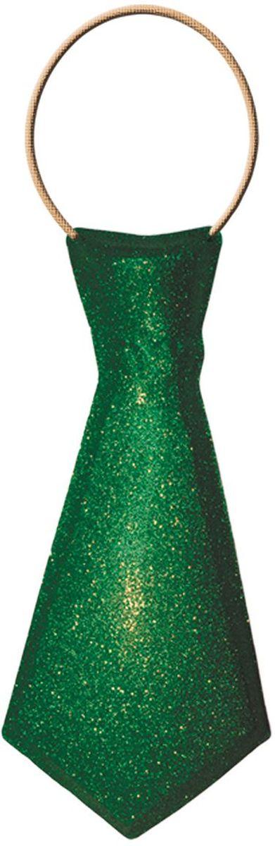Partymania Галстук карнавальный 32 см T1232 цвет зеленыйT1232_зеленыйГалстук карнавальный с обсыпкой блестками, на резинке. Длина 32 см. Цвета в ассортименте: золотой, красный, серебряный, синий, зеленый, розовый. Материал ПВХ.