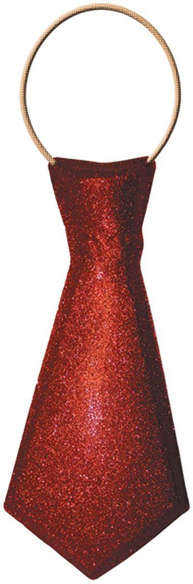 Partymania Галстук карнавальный 32 см T1232 цвет красныйT1232_красныйГалстук карнавальный с обсыпкой блестками, на резинке. Длина 32 см. Цвета в ассортименте: золотой, красный, серебряный, синий, зеленый, розовый. Материал ПВХ.