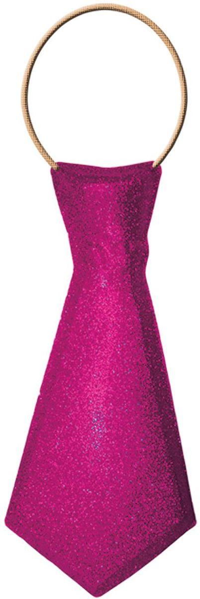 Partymania Галстук карнавальный 32 см T1232 цвет розовыйT1232_розовыйГалстук карнавальный с обсыпкой блестками, на резинке. Длина 32 см. Цвета в ассортименте: золотой, красный, серебряный, синий, зеленый, розовый. Материал ПВХ.