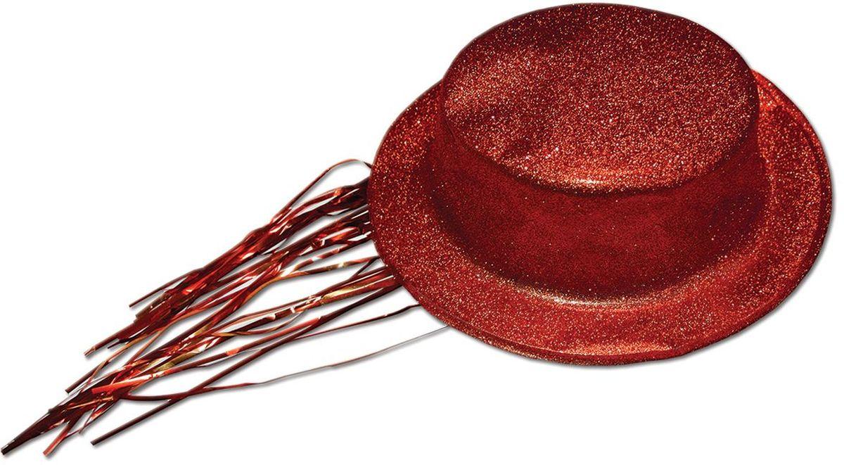 Partymania Шляпа карнавальная с дождиком T1231 цвет краснаяT1231_краснаяШапка карнавальная с обсыпкой блестками и волосами типа Дождик. Цвета в ассортименте: золотой, красный, серебряный, черный, синий, розовый. Материал ПВХ.
