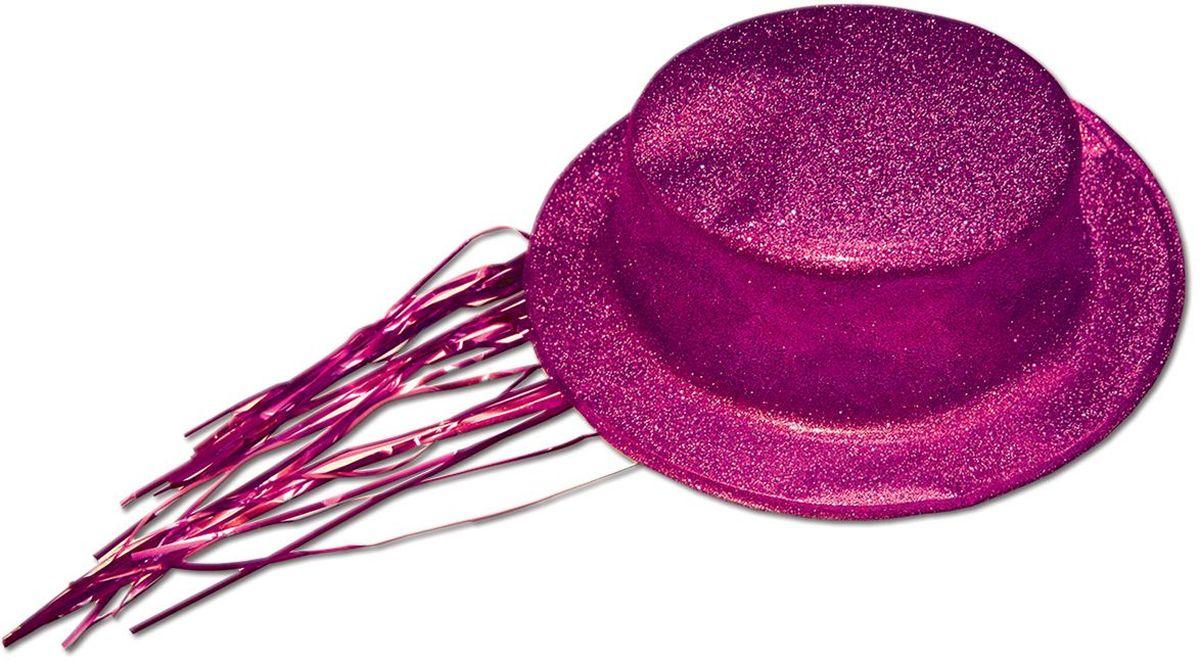 Partymania Шляпа карнавальная с дождиком T1231 цвет розовая