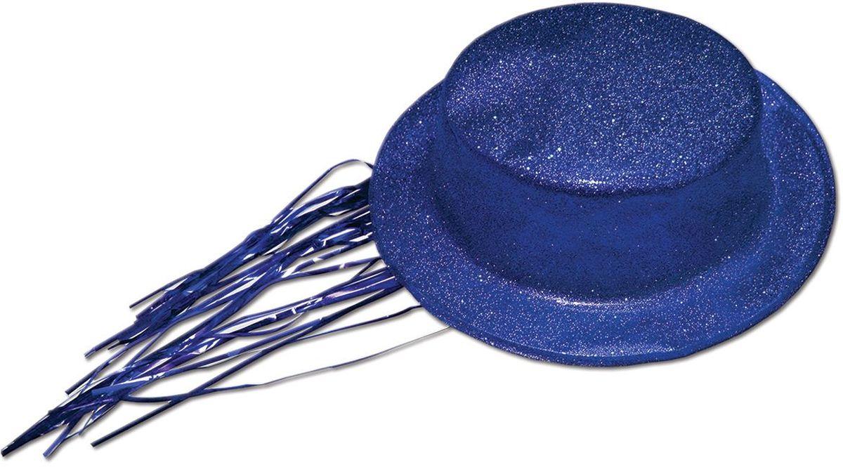 Partymania Шляпа карнавальная с дождиком T1231 цвет синяяT1231_синяяШапка карнавальная с обсыпкой блестками и волосами типа Дождик. Цвета в ассортименте: золотой, красный, серебряный, черный, синий, розовый. Материал ПВХ.
