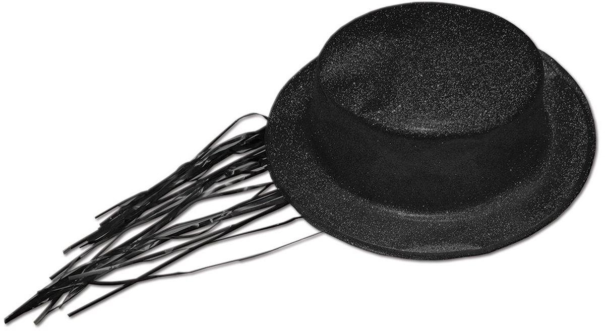 Partymania Шляпа карнавальная с дождиком T1231 цвет чернаяT1231_чернаяШапка карнавальная с обсыпкой блестками и волосами типа Дождик. Цвета в ассортименте: золотой, красный, серебряный, черный, синий, розовый. Материал ПВХ.