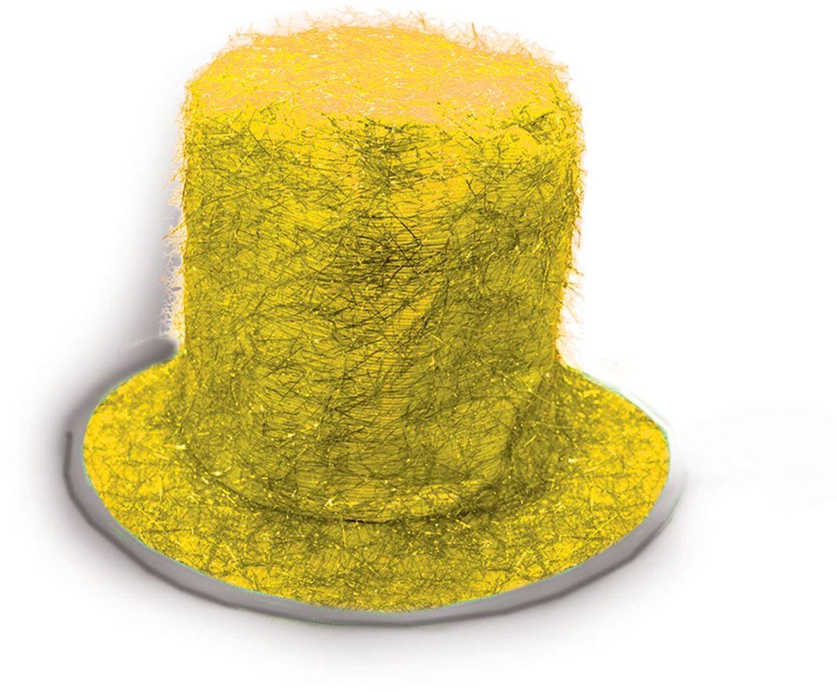 Partymania Шляпа карнавальная Цилиндр клоуна T1229 цвет желтыйT1229_желтыйЯркий тканевый цилиндр клоуна для карнавальных вечеринок и праздников. В ассортименте 6 цветов (золотой, серебряный, синий, красный, малиновый, фиолетовый).