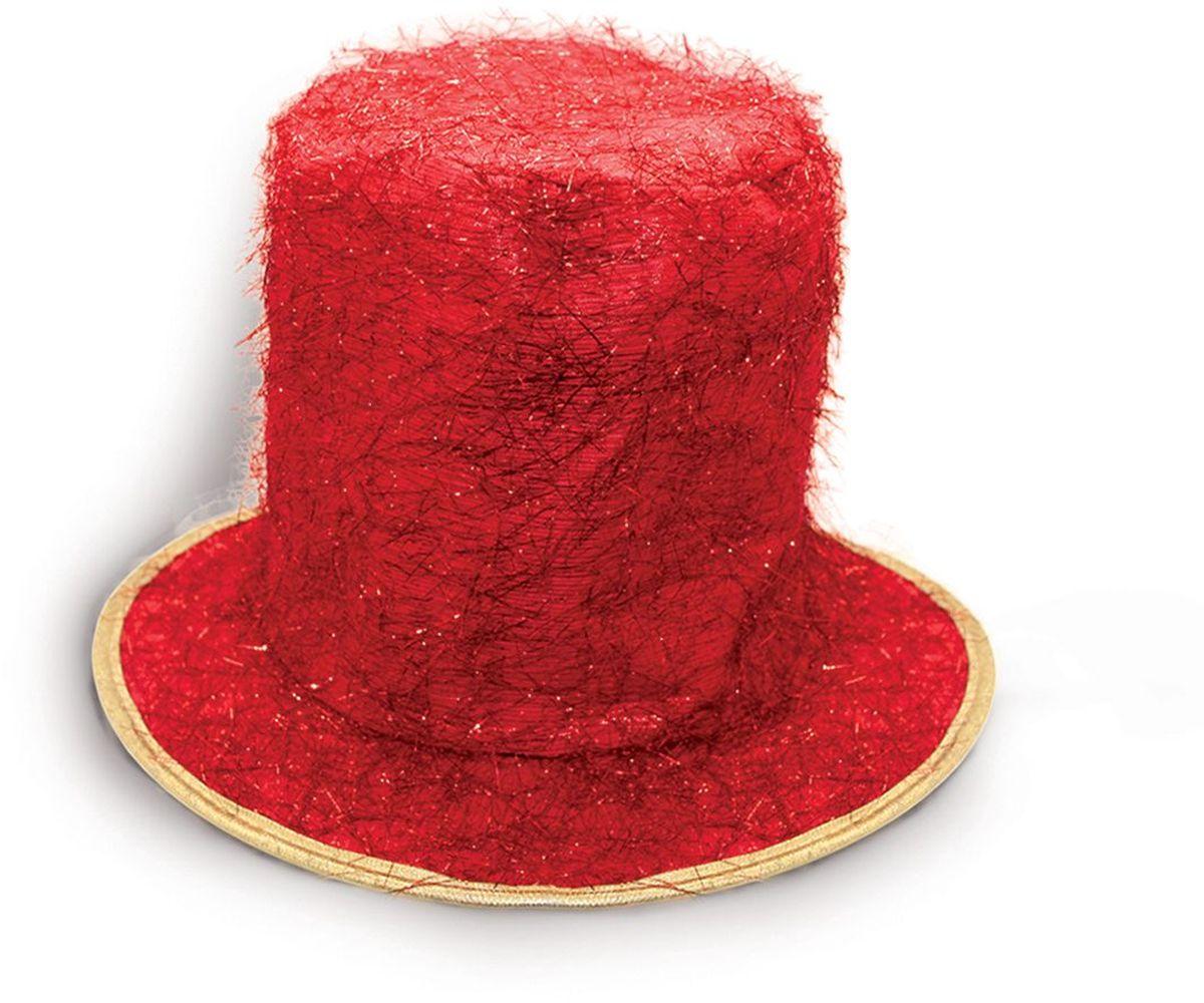 Partymania Шляпа карнавальная Цилиндр клоуна T1229 цвет красный