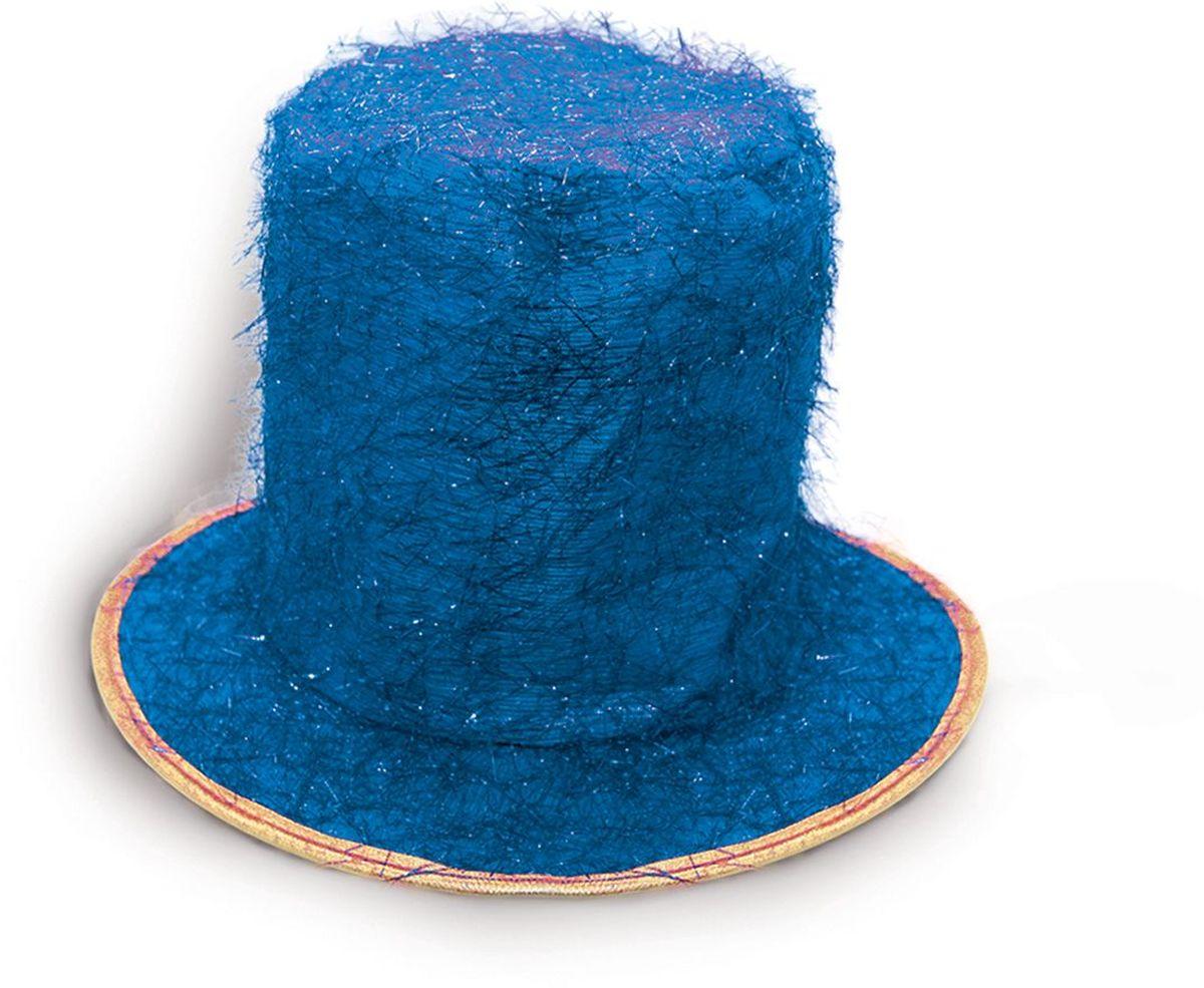 Partymania Шляпа карнавальная Цилиндр клоуна T1229 цвет синийT1229_синийЯркий тканевый цилиндр клоуна для карнавальных вечеринок и праздников. В ассортименте 6 цветов (золотой, серебряный, синий, красный, малиновый, фиолетовый).