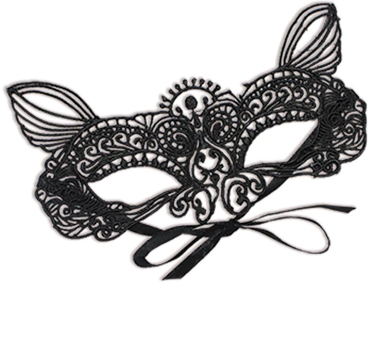 Partymania Карнавальная маска Кружево T1228 цвет 4