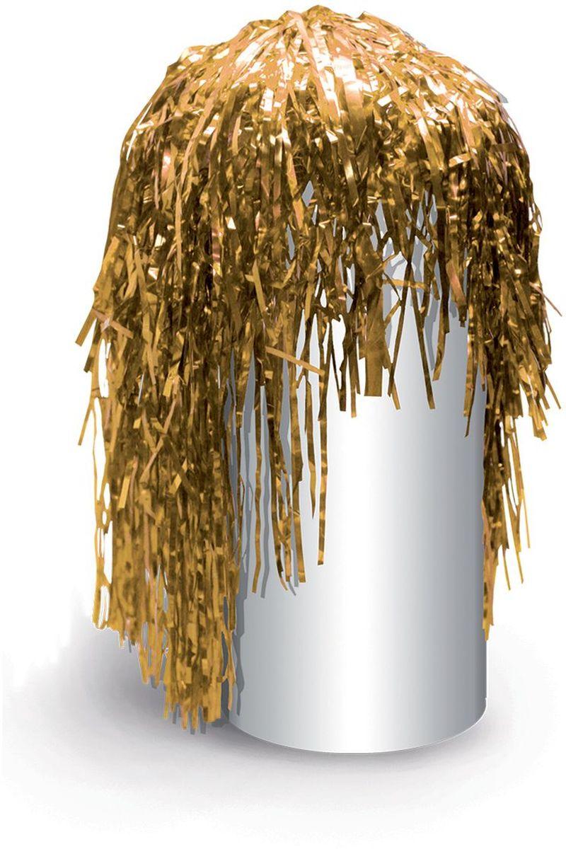 Partymania Маскарадный парик из дождика Веселый праздник T1222 цвет золотойT1222_золотойИзделие развлекательного характера. Яркий парик из фольги придаст Вам сказочный вид и сделает Вас главной героиней любого праздника, создав при этом праздничное настроение.