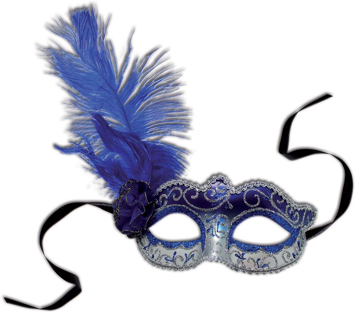 Partymania Венецианская маска Карнавал T1217 цвет сине-серебряная