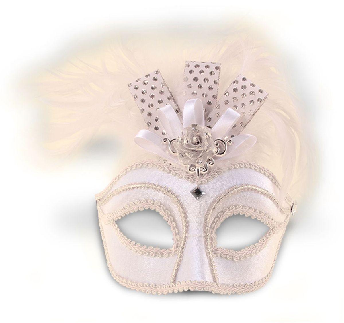 Partymania Маска для карнавала Венеция T1209 цвет белая