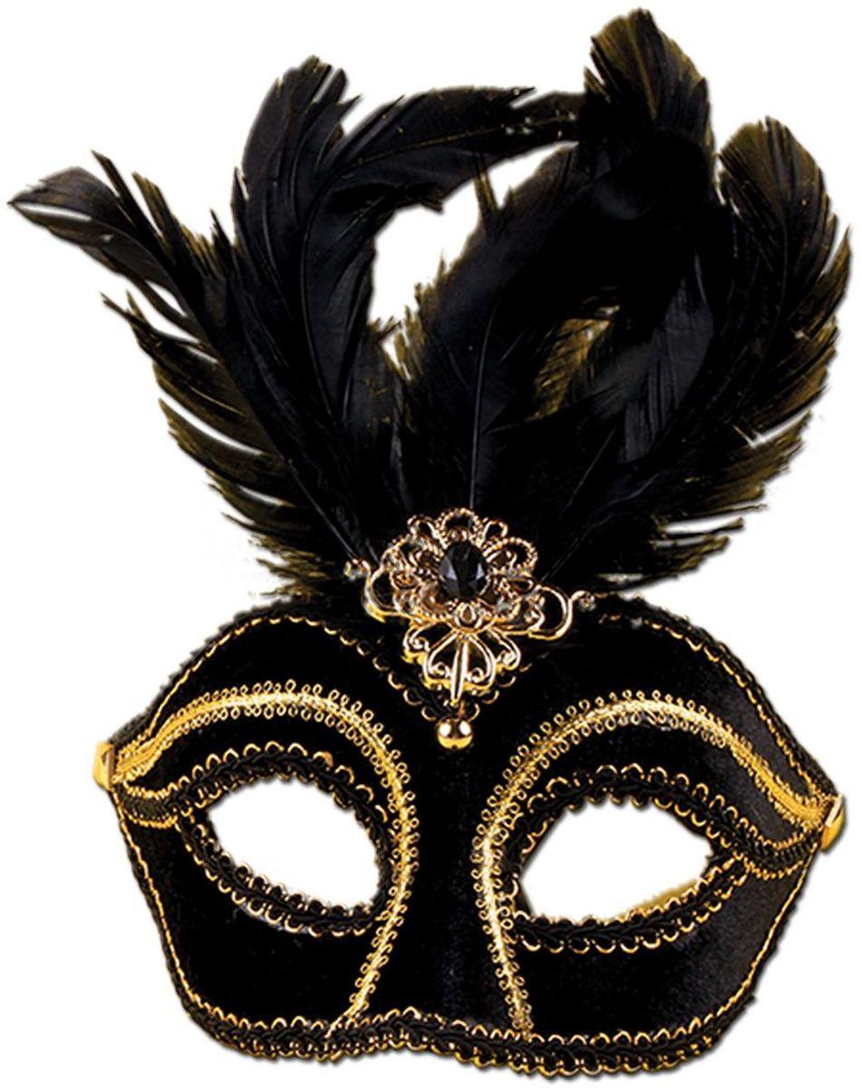 Partymania Маска для карнавала Венеция T1209 цвет черная