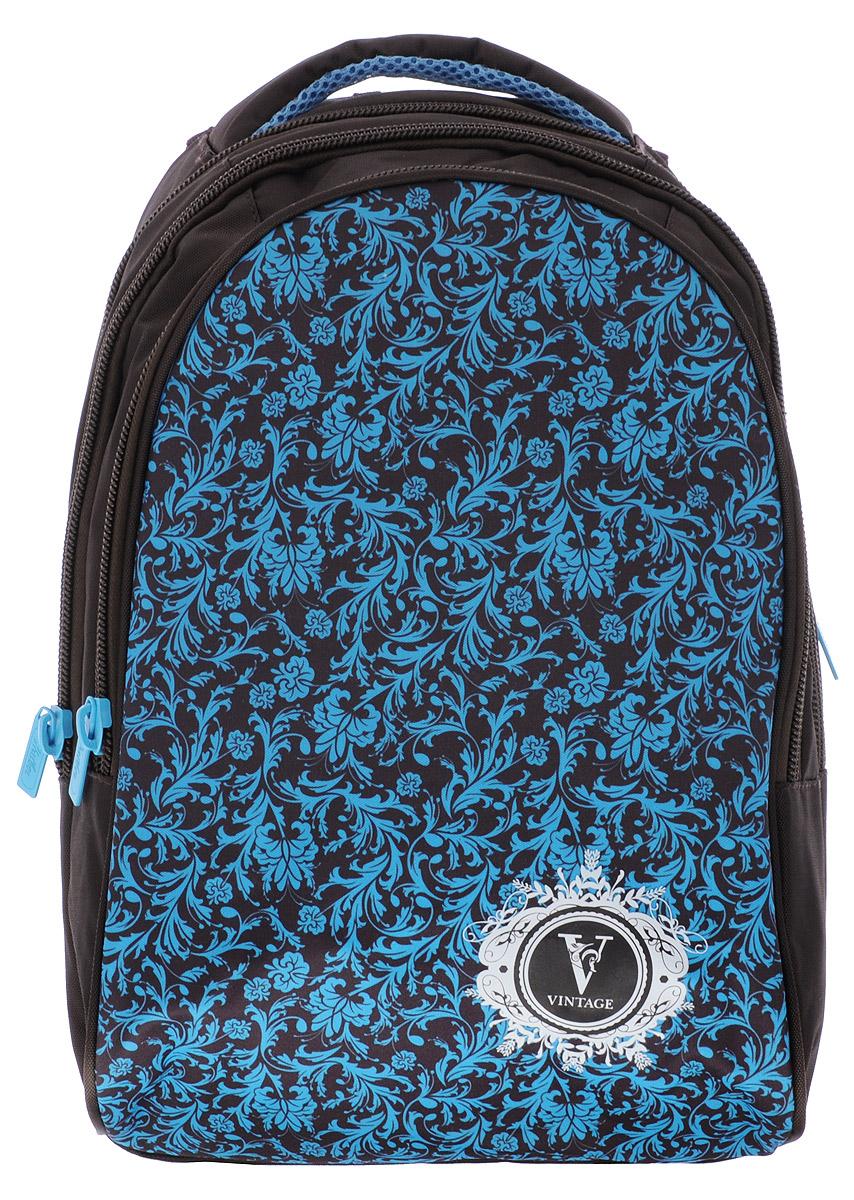 Hatber Рюкзак VintageNRk_11407Рюкзак Hatber Vintage - это современный многофункциональный молодёжный рюкзак, который выполнен из прочного износостойкого материала высокого качества. Рюкзак с усиленным дном имеет два основных отделения на молнии. Внутри отделения, расположенного ближе к спинке рюкзака, находится навесной карман на молнии, а также открытый карман на резинке. Большой наружный карман на молнии имеет внутри 5 открытых накладных кармашков (органайзер). На спинке рюкзака за мягкой вставкой располагается небольшой карман на молнии. Эргономичная вентилируемая спинка с мягкими вставками из спонжа обеспечит комфорт при носке, а широкие лямки с мягкой подкладкой регулируются по длине и надежно фиксируют рюкзак, правильно распределяя нагрузку и предотвращая перенапряжение мышц. Прочная ручка с мягкой подкладкой обеспечивает возможность переноски рюкзака в одной руке. Многофункциональный рюкзак станет вашим незаменимым спутником, куда бы вы не отправились.