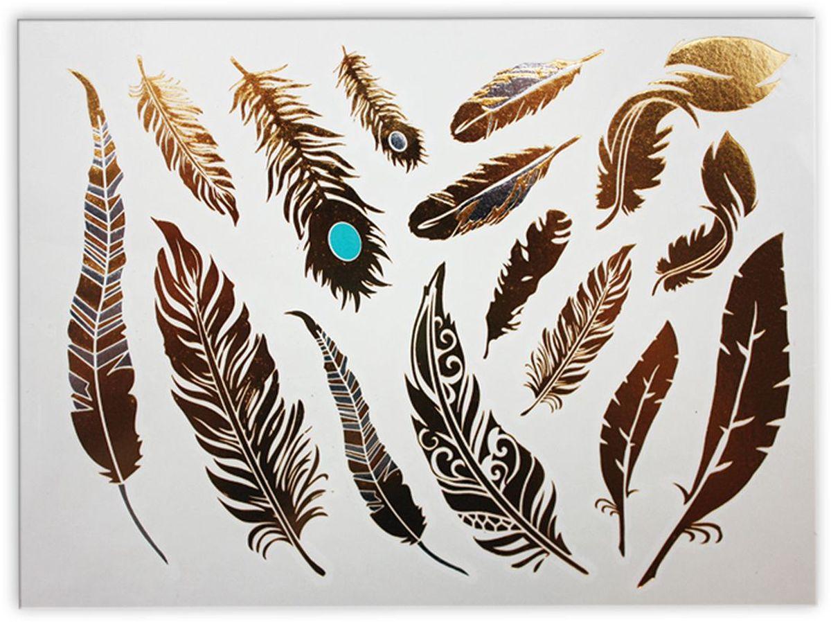 Partymania Тату для тела Style в T0812 цвет 8T0812_8Набор золотых временных татуировок для тела. Легко наносятся, держатся на коже до 5 дней. Прекрасно дополнят новогодний или любой праздничный наряд. Дизайны в ассортименте (10 дизайнов). Размер 15 х 9 см.