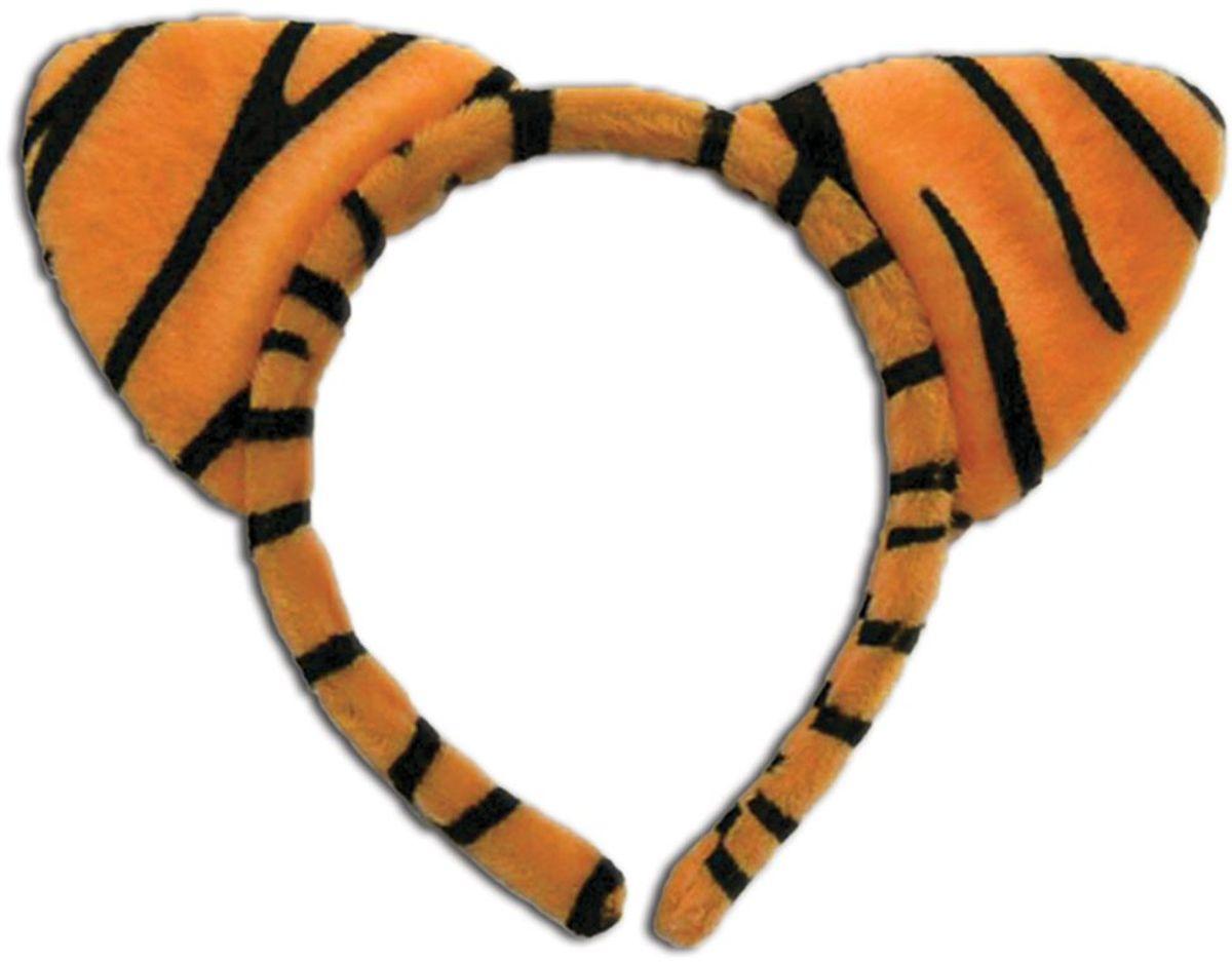 Partymania Ободок Веселые зверята T1230 цвет тигр2T1230_тигр2Мягкий, пушистый аксессуар, который добавит позитива и сделает праздник ярким. Ободок с ушками может дополнить карнавальный костюм или повседневную одежду, в зависимости от обстановки. В ассортименте 6 дизайнов: лягушка, мышка, тигр, леопард, корова, гепард.