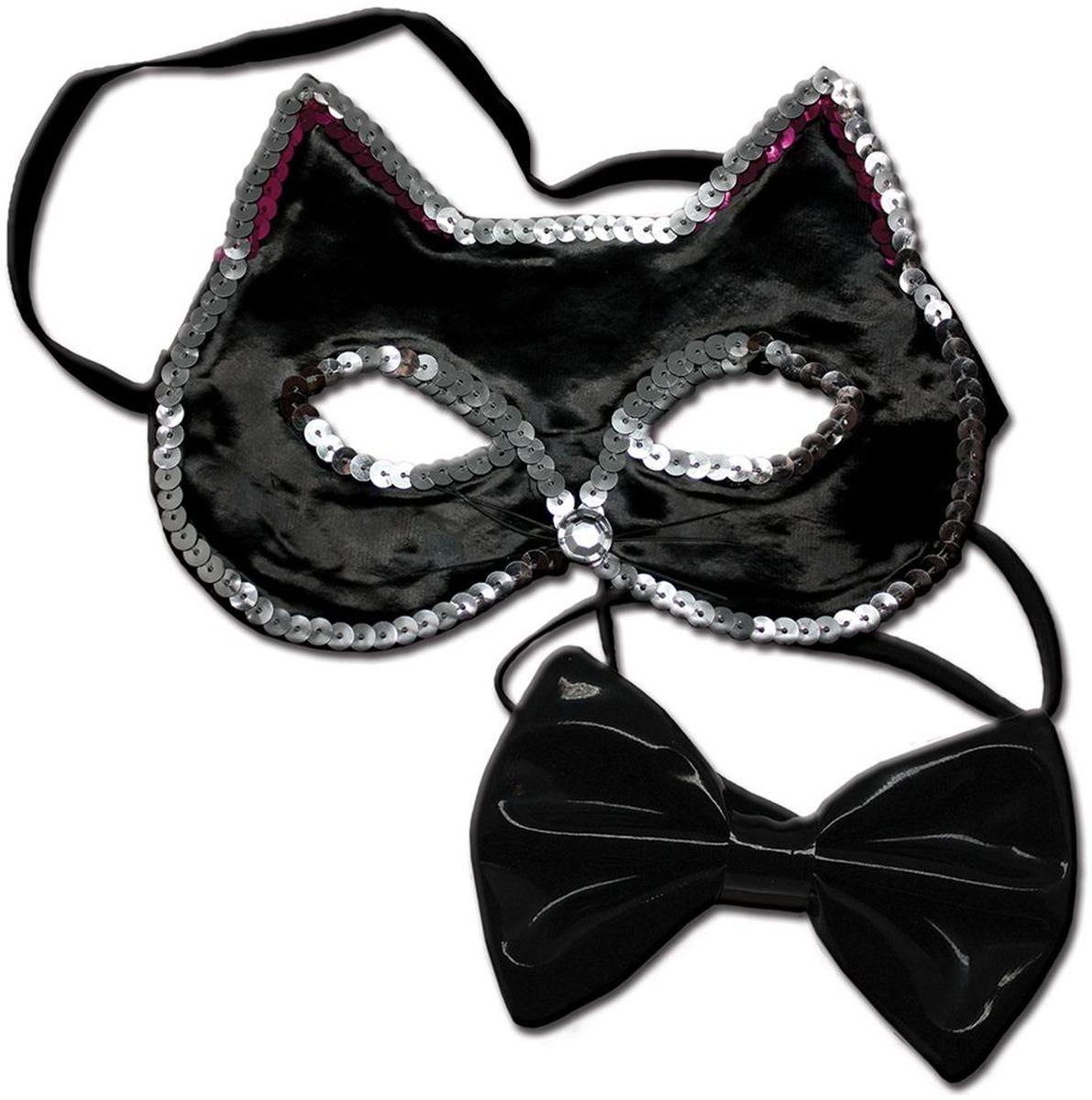 Partymania Праздничный ободок Маска кошечки с бабочкой T1224 цвет чернаяT1224_чернаяИзделие развлекательного характера. Красочное дополнение к карнавальному костюму. Праздник станет ярким м красочным!