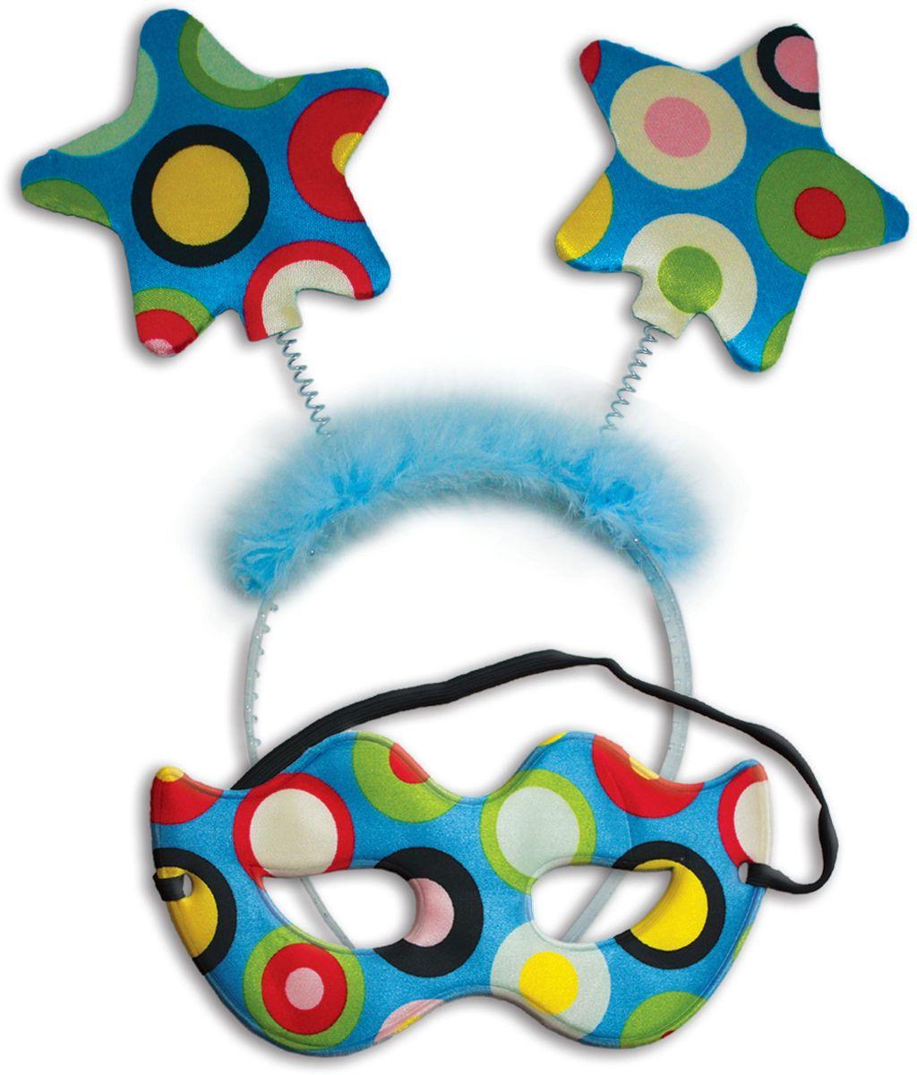 Partymania Праздничный ободок Маска карнавальная со звездочками T1223 цвет разноцветныйT1223_разноцветныйИзделие развлекательного характера. Красочное дополнение к карнавальному костюму. Праздник станет ярким м красочным!