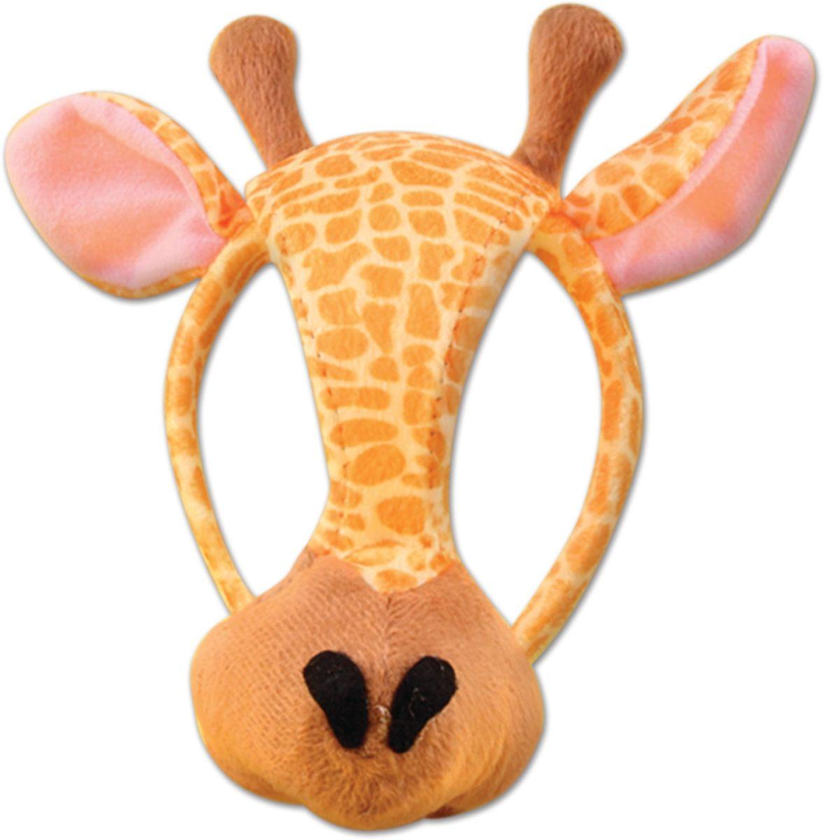 Partymania Маска для карнавала Зоопарк со звуком T1206 цвет жираф