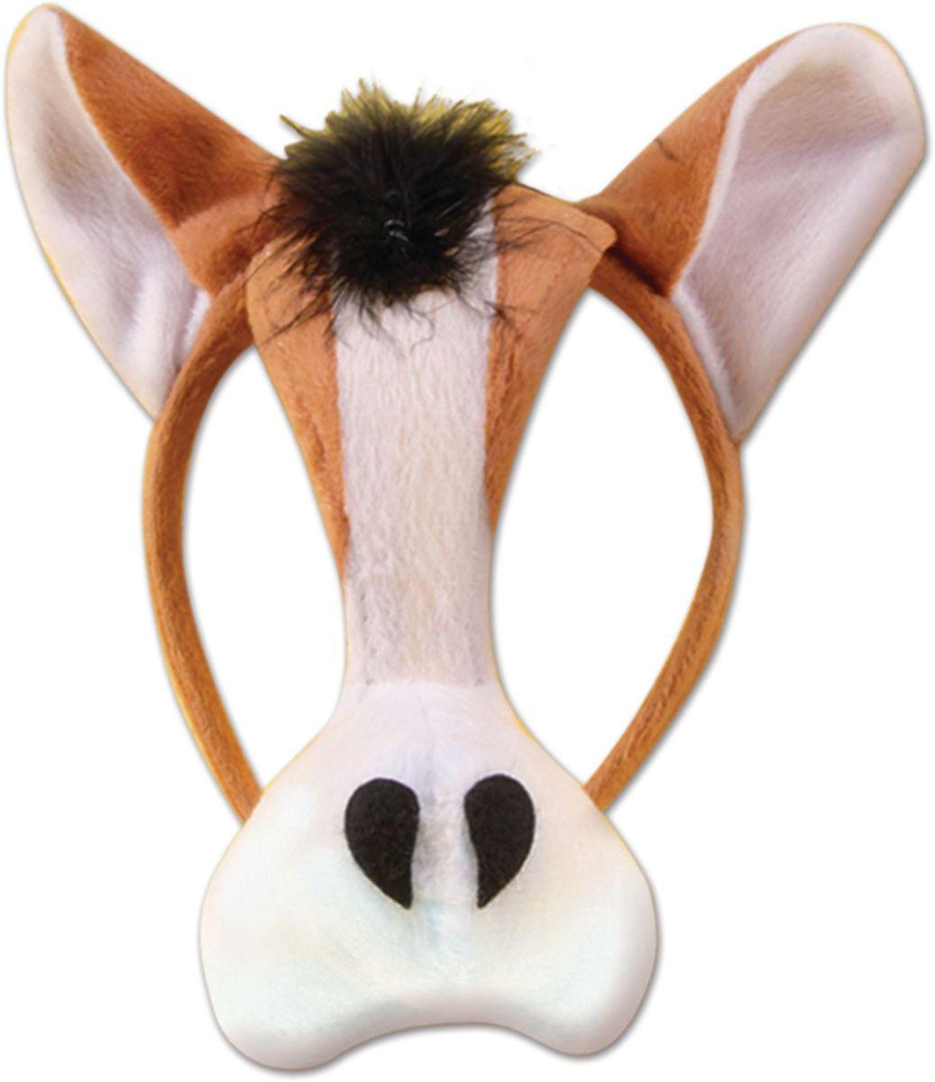 Partymania Маска для карнавала Зоопарк со звуком T1206 цвет корова