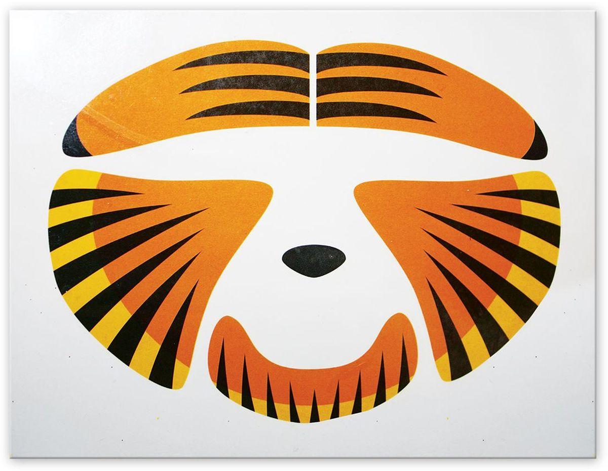 Partymania Украшение-стикер для лица Животное T0813 цвет тигрT0813_тигрНабор стикеров для создания образа животного. Наклейки на клеевой основе. В наборе 5 наклеек. Размер листа с наклейками: 17 х 13 см. В ассортименте два дизайна (тигр и леопард).