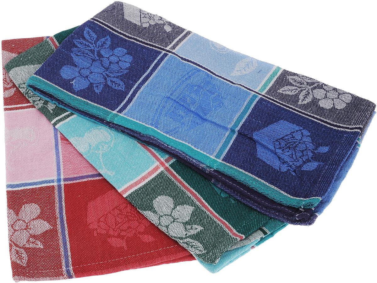 Набор кухонных полотенец Soavita Orlando, цвет: синий, красный, зеленый, 39 х 70 см, 3 шт65802Набор Soavita Orlando состоит из трех кухонных полотенец, выполненных из 100% хлопка. Они отлично впитывают влагу, быстро сохнут, сохраняют яркость цвета и не теряют форму даже после многократных стирок. Изделия предназначены для использования на кухне и в столовой. Такие полотенца станут отличным вариантом для практичной и современной хозяйки.