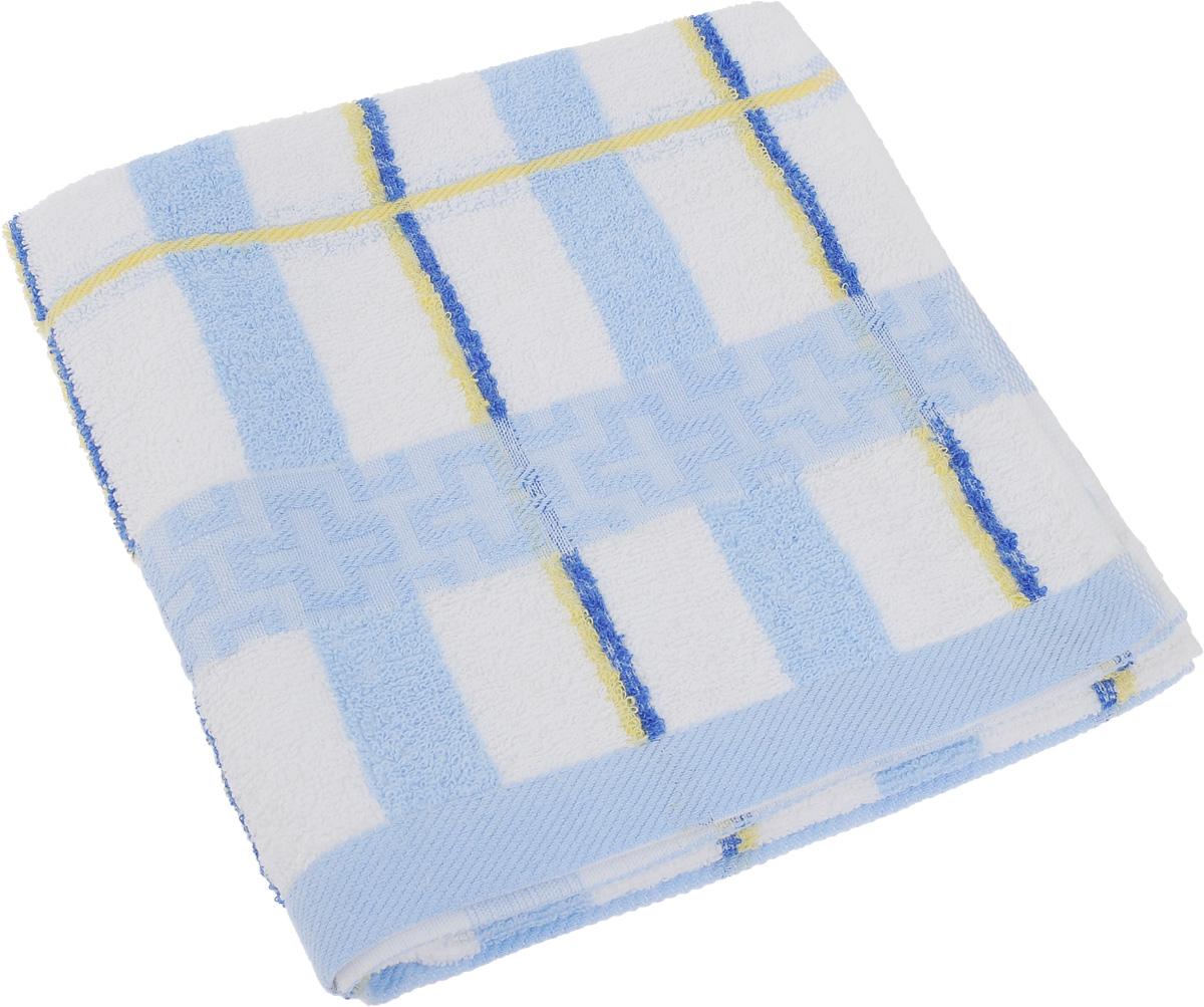 Полотенце Soavita Светлая клетка, цвет: голубой, белый, желтый, 50 х 100 см61234Полотенце Soavita Светлая клетка выполнено из 100% хлопка. Изделие отлично впитывает влагу, быстро сохнет, сохраняет яркость цвета и не теряет форму даже после многократных стирок. Полотенце очень практично и неприхотливо в уходе. Оно создаст прекрасное настроение и украсит интерьер в ванной комнате.
