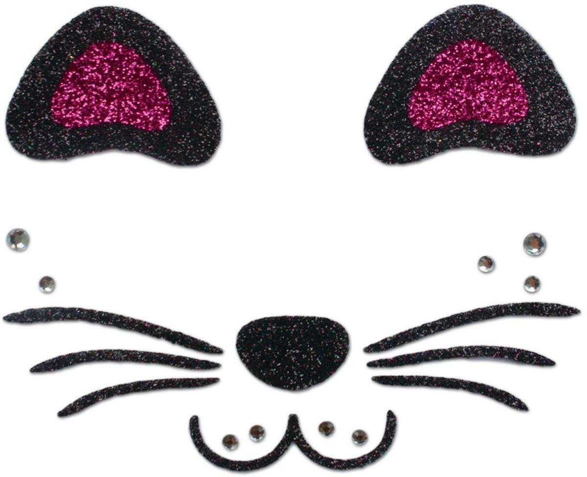 Partymania Украшение-стикер для лица Карнавал T0808 цвет котик