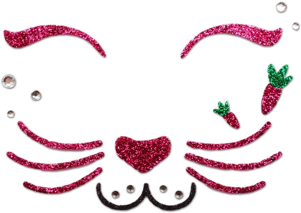 Partymania Украшение-стикер для лица Карнавал T0808 цвет кроликT0808_кроликУкрашение-стикер для лица Карнавал, поможет создать для Вашего ребенка образ забавных животных: тигра, зайки, мышки, бабочки. Удобно использовать, так как он легко снимается и не травмирует кожу лица. Размер 15 х 9 см.