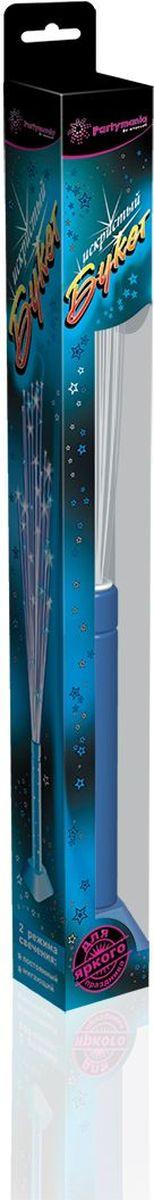Partymania Изделие для праздников и карнавалов Искристый букет T0603 цвет голубаяT0603_голубаяИспользуется для создания светового эффекта в двух режимах свечения: мигающий и постоянный. Мигающий идеально подходит для динамичных детских игр, а в постоянном режиме свечения изделие можно использовать как украшение для интерьера, установив на подставку. Комплектация: 1. Оптоволоконная игрушка-светильник со светодиодом - 1 шт. 2. Подставка - 1 шт. 3. Батарейки (тип SR44 (G13)) - 3 шт. Размер упаковки - 362х42х42 мм. Цвета: синий, зеленый, розовый.
