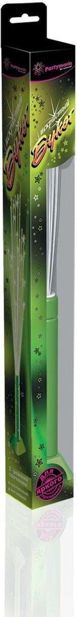 Partymania Изделие для праздников и карнавалов Искристый букет T0603 цвет зеленаяT0603_зеленаяИспользуется для создания светового эффекта в двух режимах свечения: мигающий и постоянный. Мигающий идеально подходит для динамичных детских игр, а в постоянном режиме свечения изделие можно использовать как украшение для интерьера, установив на подставку. Комплектация: 1. Оптоволоконная игрушка-светильник со светодиодом - 1 шт. 2. Подставка - 1 шт. 3. Батарейки (тип SR44 (G13)) - 3 шт. Размер упаковки - 362х42х42 мм. Цвета: синий, зеленый, розовый.