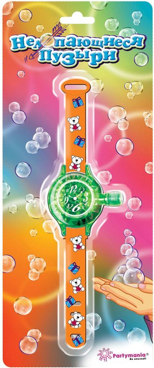 Partymania Нелопающиеся пузыри T0510 цвет оранжевыеT0510_оранжевыеЭти мыльные пузыри с особым составом легко можно собрать в небольшую фигуру, потому что они не лопаются. Совет! Пускайте пузыри вверх и ловите их, когда они пролетят несколько метров - Вы сможете лучше прочувствовать всю их необычность. Цвета ремешков: голубой, фиолетовый, оранжевый. Размер упаковки - 140х340х23 мм.