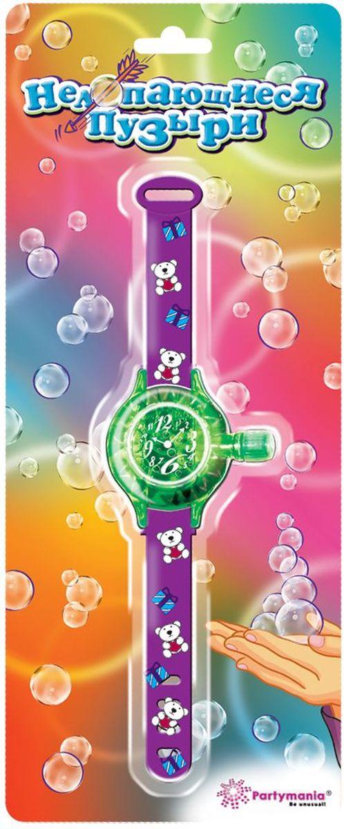 Partymania Нелопающиеся пузыри T0510 цвет фиолетовыеT0510_фиолетовыеЭти мыльные пузыри с особым составом легко можно собрать в небольшую фигуру, потому что они не лопаются. Совет! Пускайте пузыри вверх и ловите их, когда они пролетят несколько метров - Вы сможете лучше прочувствовать всю их необычность. Цвета ремешков: голубой, фиолетовый, оранжевый. Размер упаковки - 140х340х23 мм.