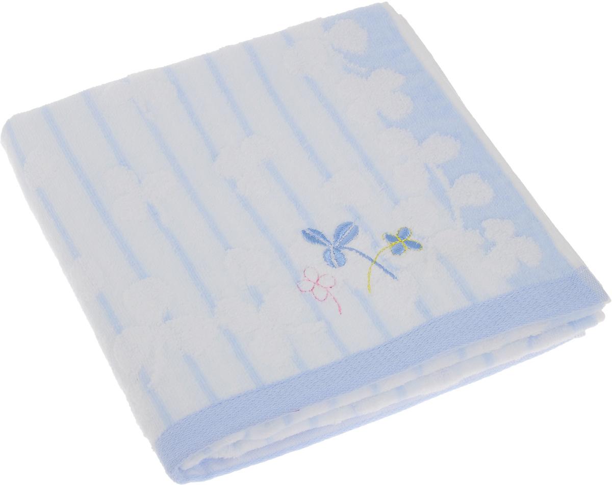 Полотенце Soavita Premium. Desy, цвет: белый, голубой, 48 х 90 см65430Полотенце Soavita Premium. Desy выполнено из 100% хлопка. Изделие отлично впитывает влагу, быстро сохнет, сохраняет яркость цвета и не теряет форму даже после многократных стирок. Полотенце очень практично и неприхотливо в уходе. Оно создаст прекрасное настроение и украсит интерьер.