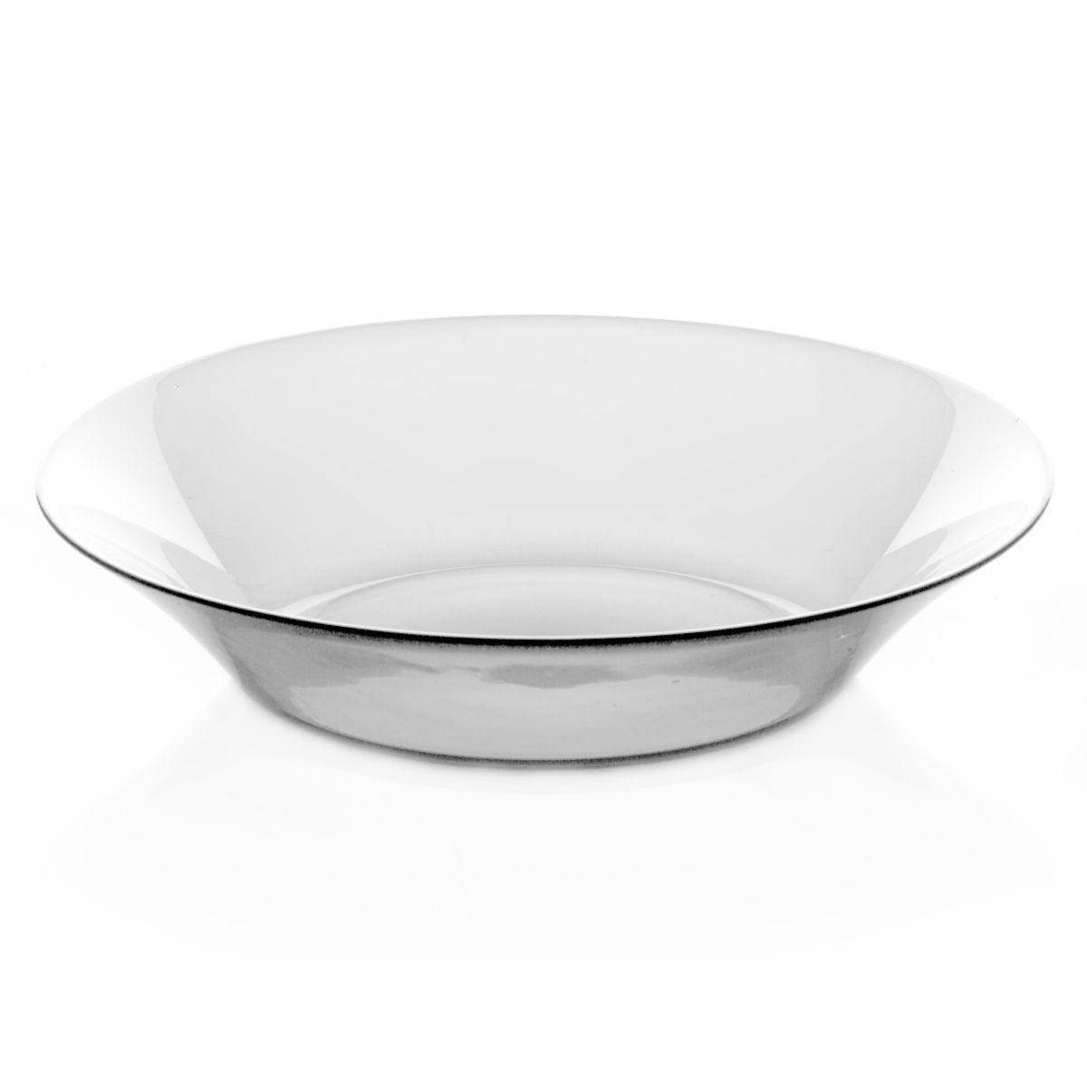 Набор тарелок Pasabahce Invitation, диаметр 22 см, 6 шт10335BНабор Pasabahce Invitation состоит из шести тарелок, выполненных из закаленного прозрачного стекла. Тарелки предназначены для красивой сервировки первых блюд. Они сочетают в себе изысканный дизайн с максимальной функциональностью. Оригинальность оформления тарелок придется по вкусу и ценителям классики, и тем, кто предпочитает утонченность и изящность. Набор тарелок Pasabahce Invitation послужит отличным подарком к любому празднику. Можно использовать в микроволновой печи, холодильнике и морозильной камере, также мыть в посудомоечной машине. Диаметр тарелок: 22 см.