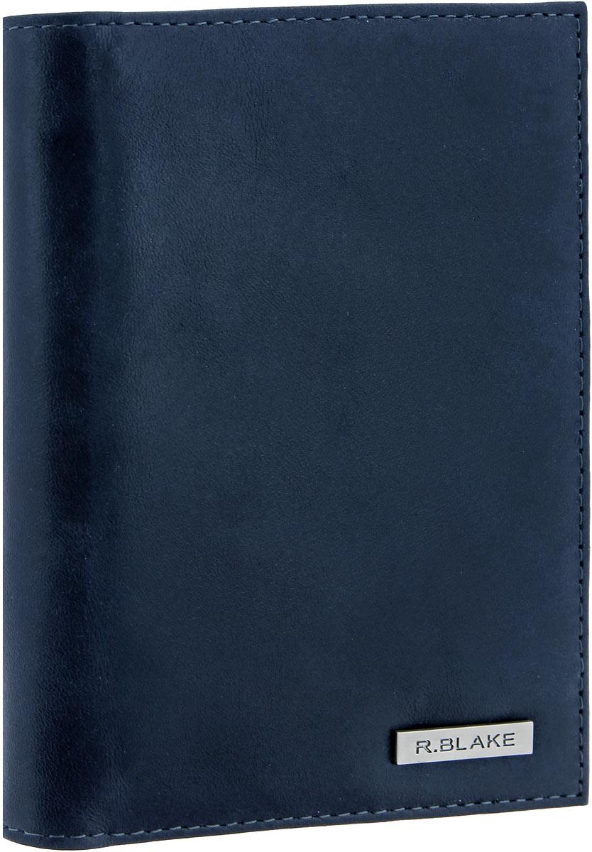 "Обложка для документов мужская R. Blake ""Cover Mix Shammy"", цвет: темно-синий. GCVM00-000000-D0608O-K101"