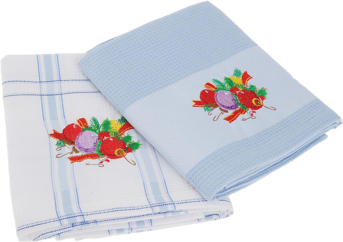 Набор кухонных полотенец Soavita Подарочное, цвет: белый, голубой, 45 х 70 см, 2 шт. 4409344093Набор Soavita Подарочное состоит из двух полотенец, выполненных из 100% хлопка. Изделия предназначены для использования на кухне и в столовой. Набор полотенец Soavita Подарочное - отличное приобретение для каждой хозяйки. Комплектация: 2 шт.