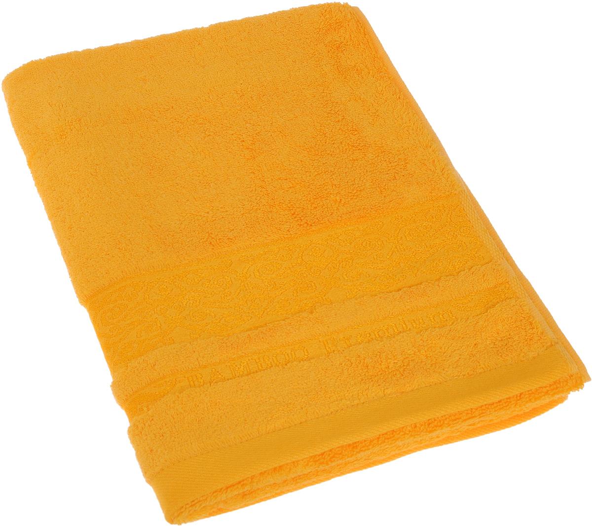 Полотенце Soavita Mario, цвет: желтый, 50 х 90 см64077Полотенце Soavita Mario выполнено из 100% бамбукового волокна и украшено узорами. Изделие отлично впитывает влагу, быстро сохнет, сохраняет яркость цвета и не теряет форму даже после многократных стирок. Полотенце очень практично и неприхотливо в уходе. Оно создаст прекрасное настроение и украсит интерьер в ванной комнате.
