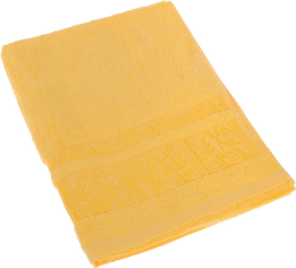 Полотенце Soavita Sofia, цвет: желтый, 50 х 90 см64109Полотенце Soavita Sofia выполнено из 100% бамбукового волокна. Изделие отлично впитывает влагу, быстро сохнет, сохраняет яркость цвета и не теряет форму даже после многократных стирок. Полотенце очень практично и неприхотливо в уходе. Оно создаст прекрасное настроение и украсит интерьер в ванной комнате.