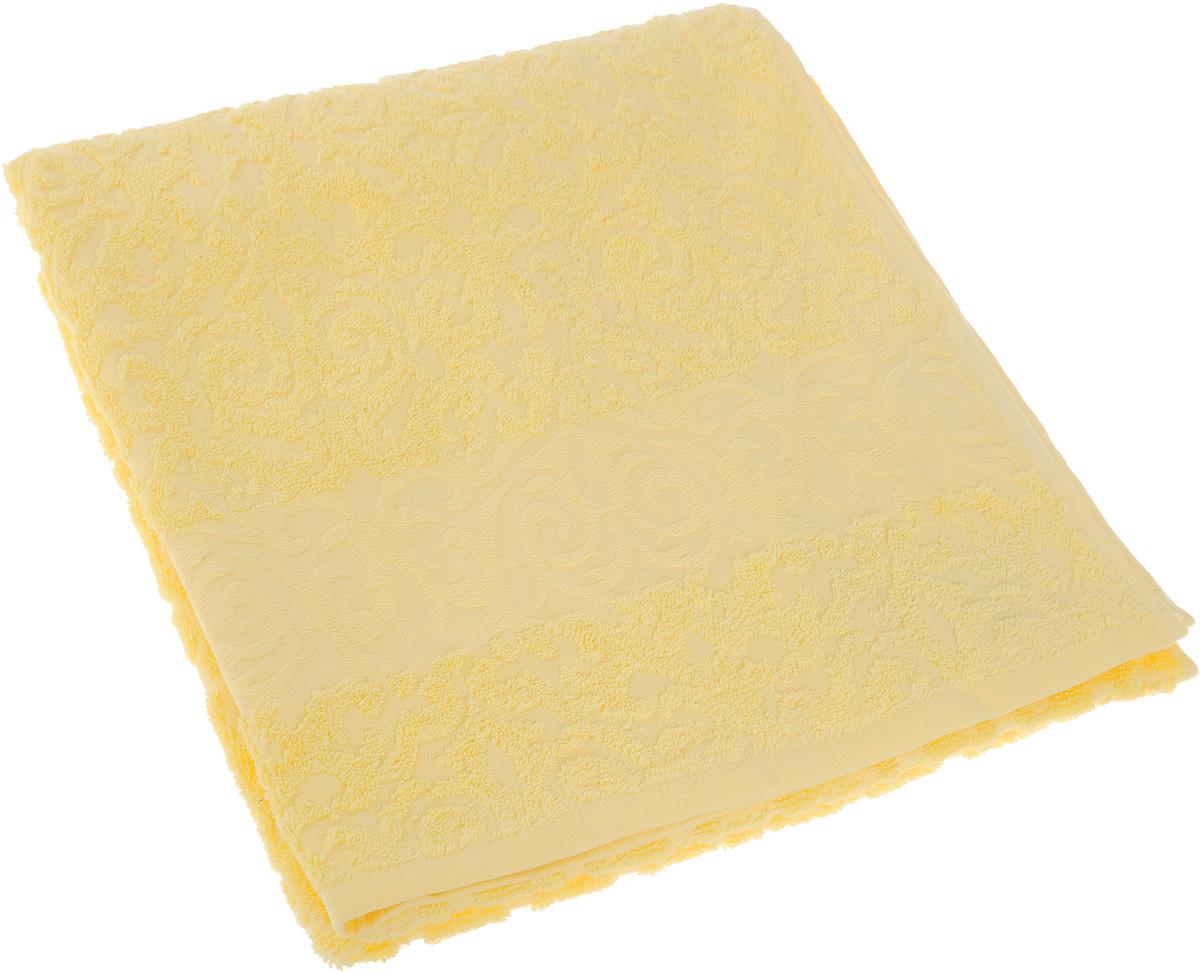 Полотенце Soavita Luxury. Квадро, цвет: желтый, 70 х 140 см51636Полотенце Soavita Luxury. Квадро выполнено из 100% хлопка. Изделие отлично впитывает влагу, быстро сохнет, сохраняет яркость цвета и не теряет форму даже после многократных стирок. Полотенце очень практично и неприхотливо в уходе. Оно создаст прекрасное настроение и украсит интерьер в ванной комнате.