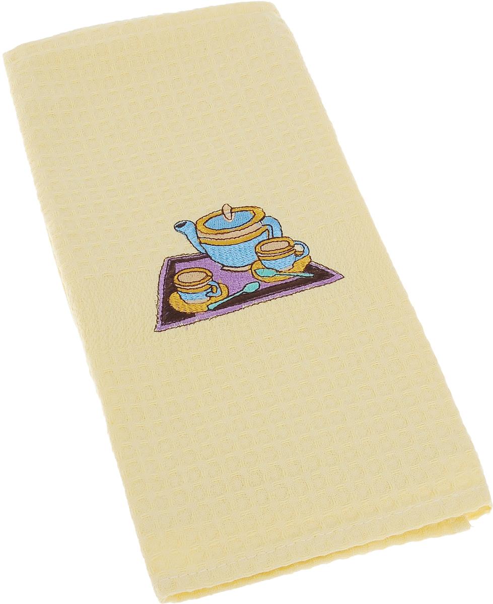 Полотенце кухонное Soavita, цвет: желтый, 40 х 60 см. 4880548805Кухонное полотенце Soavita выполнено из 100% хлопка. Оно отлично впитывает влагу, быстро сохнет, сохраняет яркость цвета и не теряет форму даже после многократных стирок. Изделие предназначено для использования на кухне и в столовой. Такое полотенце станет отличным вариантом для практичной и современной хозяйки.