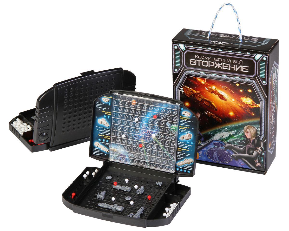 Биплант Настольная игра 10034 Космический Бой Вторжение10034Игра для космических сражений, аналог Морского боя. Имеет три варианта правил. Игроки могут выбирать уровень сложности игры на свое усмотрение. Игра для всех возрастов, начиная с 6 лет. Развивает фантазию, воображение, логическое мышление, тактические способности.