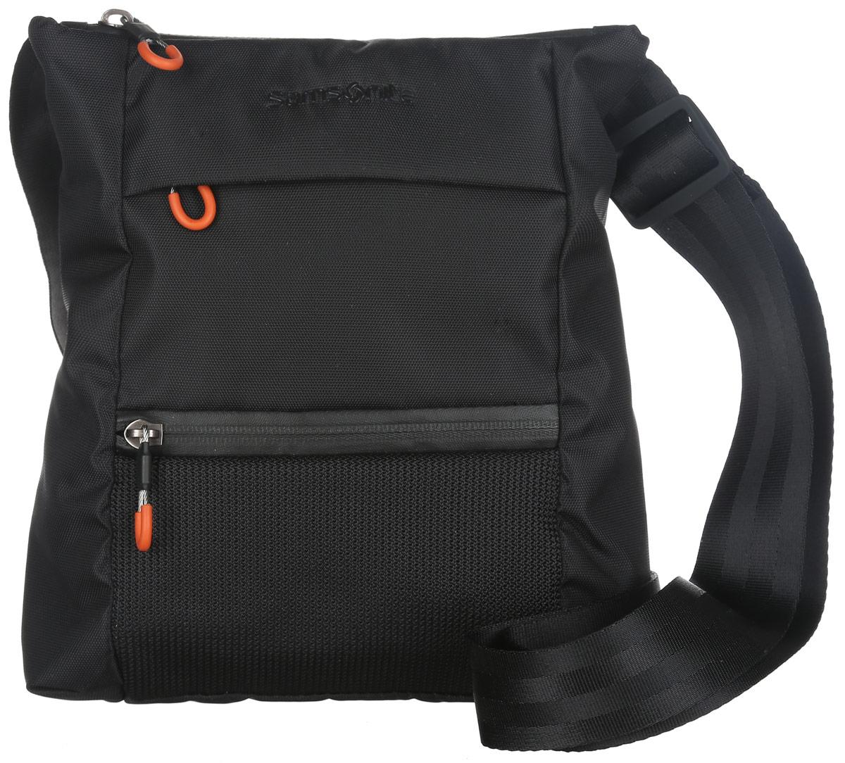 Сумка женская Samsonite, цвет: черный. 50V-0900250V-09002Практичная женская сумка Samsonite изготовлена из полиамида и полиэстера, оформлена символикой бренда. Изделие содержит одно основное отделение, закрывающееся на застежку-молнию. Внутри отделения расположен врезной карман на молнии. Лицевая сторона сумки дополнена потайным карманом на молнии и прорезным карманом на застежке-молнии. На задней стороне изделия расположен накладной карман на липучке. Сумка оснащена наплечным ремнем регулируемой длины. Стильный аксессуар позволит вам завершить образ и быть неотразимой.