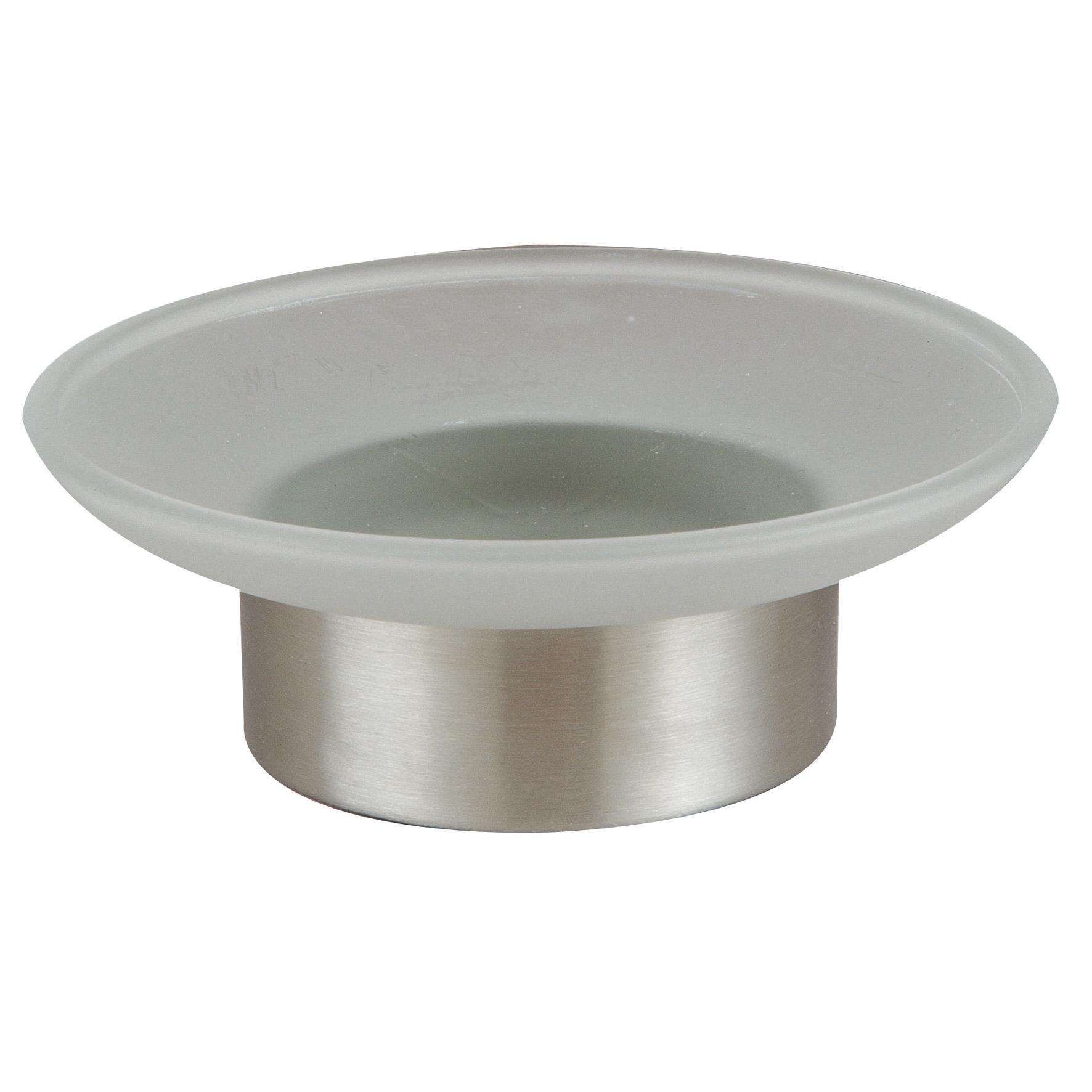 Мыльница Axentia Neapel, диаметр 11 см116942Мыльница Axentia Neapel изготовлена из матового стекла в сочетании с нержавеющей сталью. Изделие отлично дополнит интерьер вашей ванной комнаты или кухни, отлично сочетается с другими аксессуарами из коллекции Neapel. Диаметр мыльницы: 11 см. высота мыльницы: 4 см.